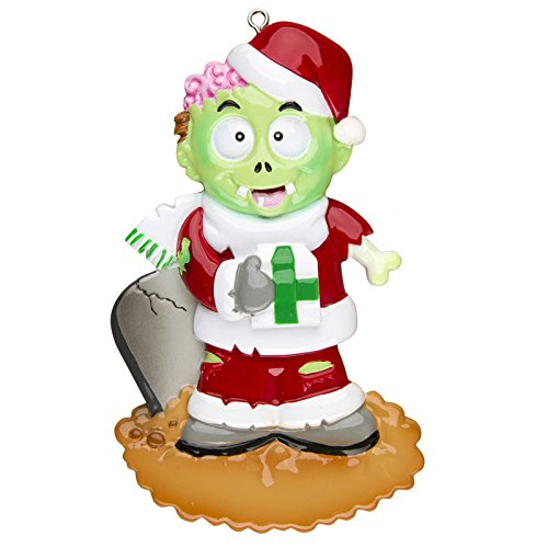 Zombie Personalized Christmas Tree Ornament by Polar X