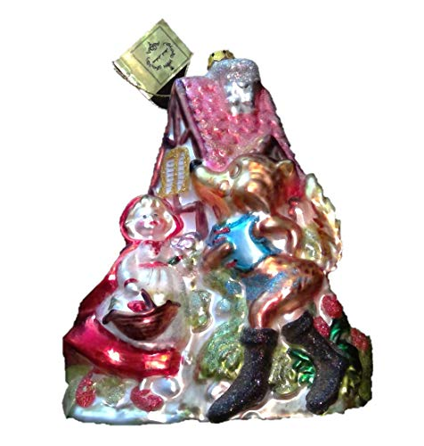 Little Red Riding Hood by Mark Roberts Glass Christmas Ornament 6in
