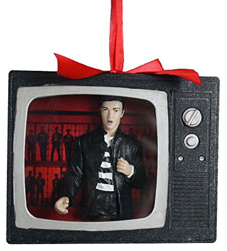 Kurt Adler ELVIS JAILHOUSE ROCK SHADOW BOX TELEVISION ORNAMENT