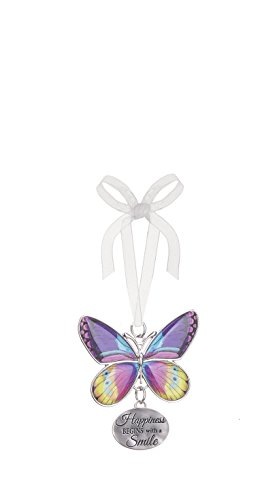 Ganz Home Decor Christmas/Spring Blissful Journey Butterfly Ornament (Happiness Begins with a Smile EA13550)