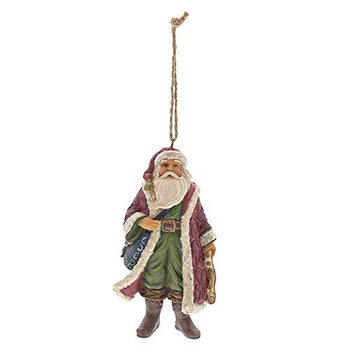 Enesco Jim Shore Heartwood Creek Victorian Santa with Satchel Ornament