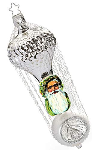 Inge-Glas Weihnachtsman with Reflector – b 1-090-17b German Glass Christmas Ornament