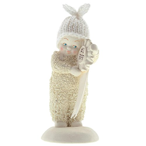 "Department 56 Snowbabies ""#1 BFF"" Porcelain Figurine, 4.625"""