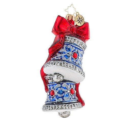 Christopher Radko Blue Bell Elegance Christmas Ornament