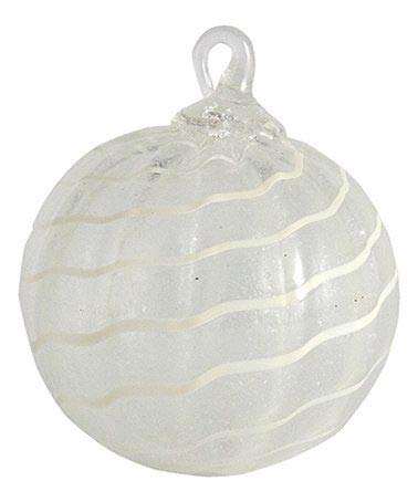 Glass Eye Studio Glow in The Dark White Classic Ornament Limited
