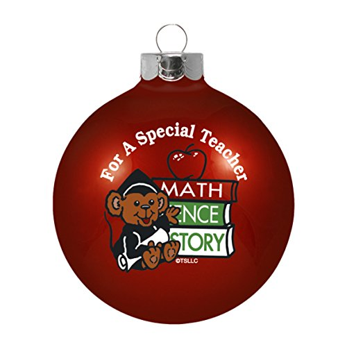 Topperscot by Boelter Brands Teacher Ornament, Red