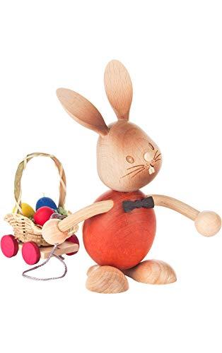 Alexander Taron 224-648-9 Dregeno Easter Figure – Rabbit Cart – 5.5″ H x 3″ W x 6″ D Brown