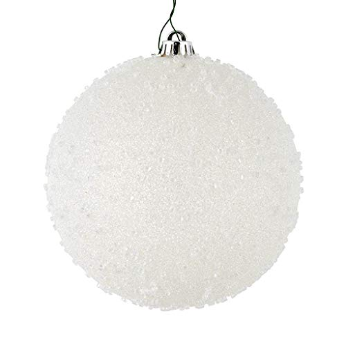 Vickerman 535714-3″ White Ice Ball Christmas Tree Ornament (12 pack) (N185011)