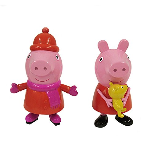 Kurt Adler 3.5-4″ Peppa Pig Blow Mold Christmas Ornament 2 Assorted