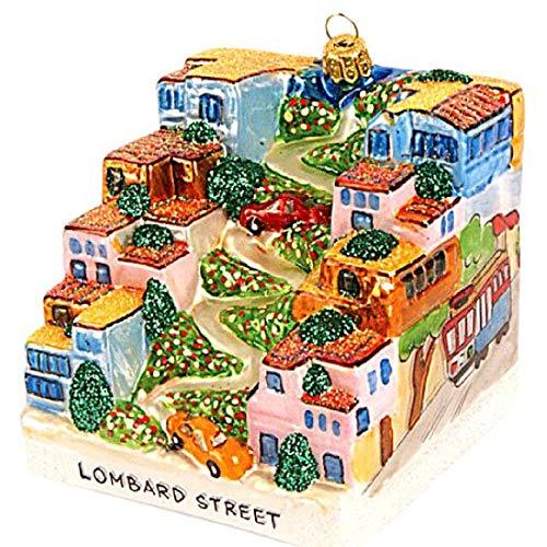 Pinnacle Peak Trading Company Lombard Street Polish Glass Christmas Tree Ornament Travel USA San Francisco