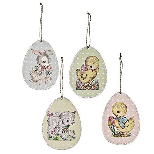 Bethany Lowe Retro Paper Egg Ornaments