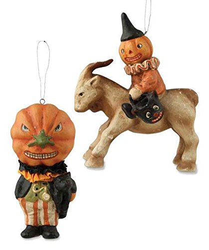Jack-o'-Lantern Party Ornament (Set of 2)