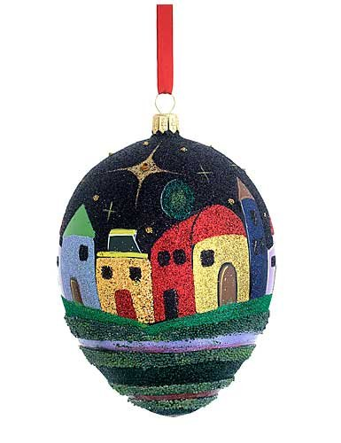 Reed and Barton MD Anderson Blown Glass Bethlehem Ornament by Carlos
