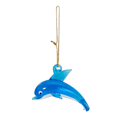 Beachcombers Coastal Life Decorative Ocean Ornament with S-Hook (Dolphin, Light Blue, 04009)