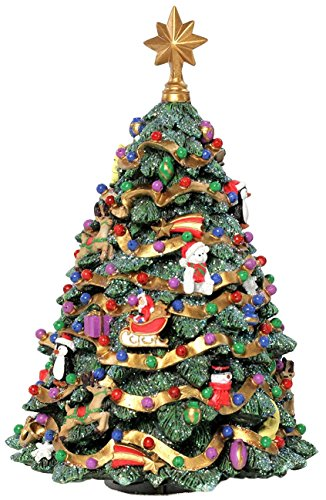 The San Francisco Music Box Company Jingle Bell Rotating Christmas Tree Figurine