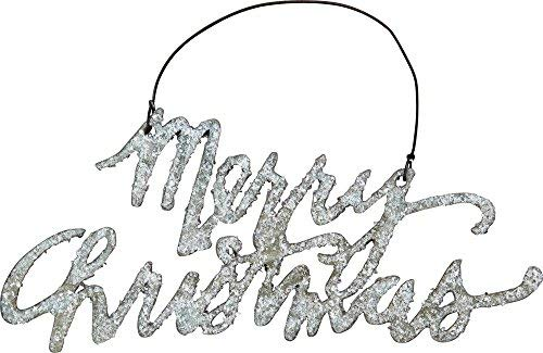 Primitives By Kathy Phil Chapman 5.50 inches x 2.50 inches Tin Word Ornament – Merry Christmas