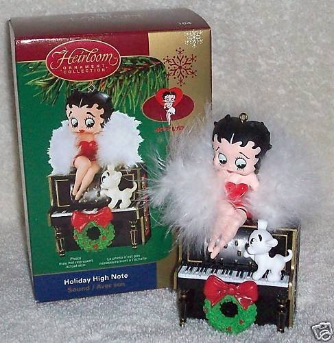 Betty Boop – Holiday High Note Carlton Cards Christmas Ornament by Carlton Cards