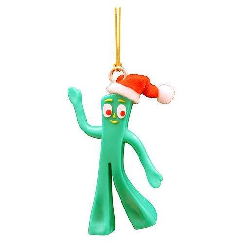 NJ Croce Gumby Figural Christmas Tree Dangler Ornament, Green