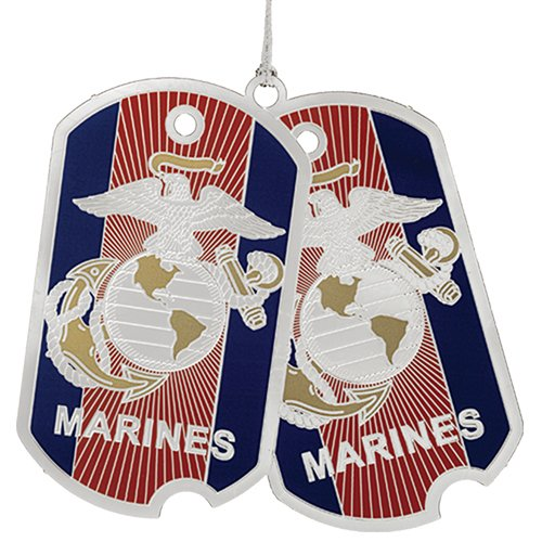 Beacon Design by ChemArt US Marine Corp Dog Tag Ornament