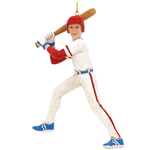 Kurt Adler 5.5-Inch Baseball Boy Christmas Ornament