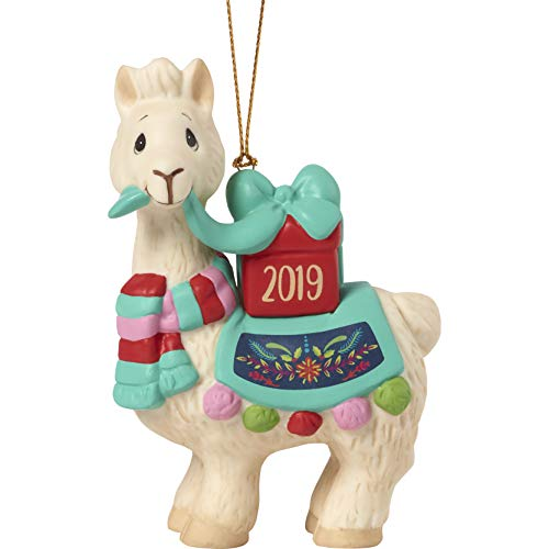 Precious Moments Llove You Llots 2019 Dated Bisque Porcelain Llama Christmas 191009 Ornament One Size Multi