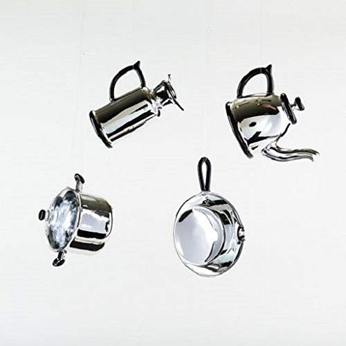 180 Degrees LC0650 Silver-Tone Glass Christmas Ornament Decoration Kitchen Chef Baker