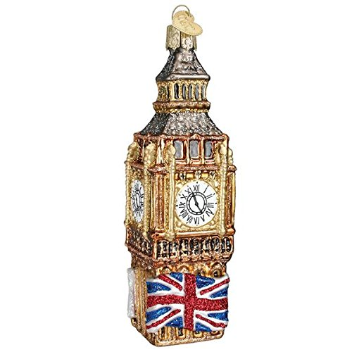 Prince of Scots Old World Christmas Big Ben Blown Glass Ornament for Christmas Tree