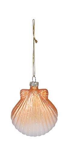 Beachcombers Coastal Life Decorative Beach Ornament with S-Hook (Clam Shell, 04208)