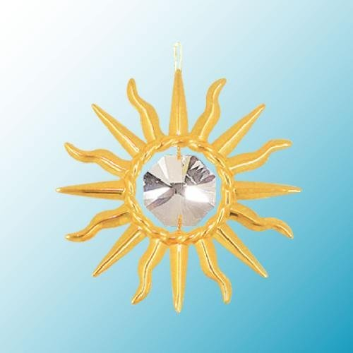 Sunburst Sun Catcher or Ornament….. With Clear Swarovski Austrian Crystals