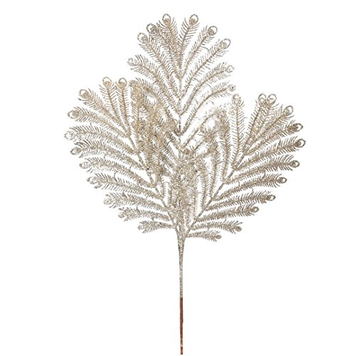 Vickerman Glitter Peacock Tail Spray in 12/Bag, 22″, Champagne