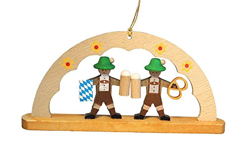 Alexander Taron 13619 Richard Glaesser Ornament – Arch with Bavarians – 2″ H x 4.5″ W x .5″ D Brown