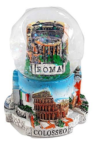 Souvenir New Small Snowdome Italy Snowglobe Rome Colosseum Italia S-71mm