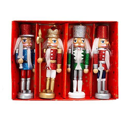Kurt S. Adler 5″ Boxed Nutcracker Ornament Set (Set of 4), 4 Piece