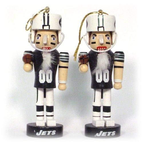 NFL New York Jets Mini Nutcracker Ornament Set