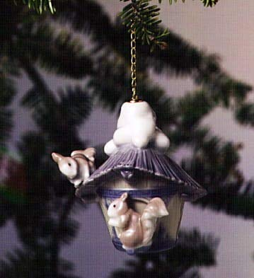 Lladro Christmas Ornament Our Winter Home Collectible Figurine #06519 Glazed Finish