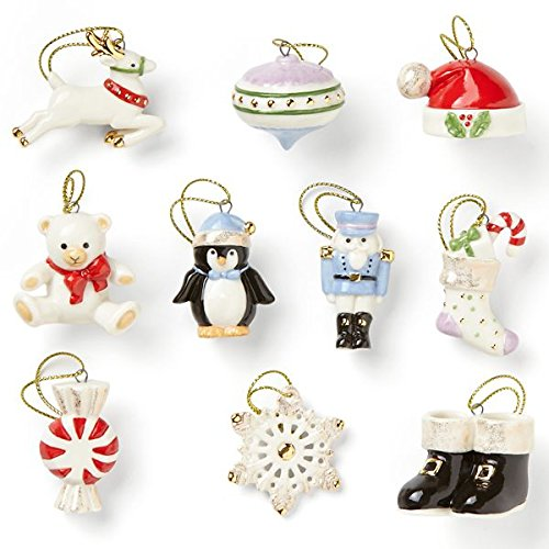 Lenox Christmas Memories 10 Piece Ornament Set