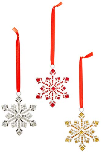 Reed & Barton Jeweled Snowflake Ornament, Set of 3 Ornament