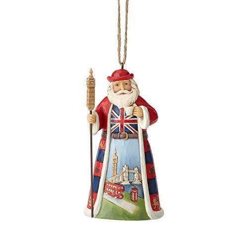 Enesco Jim Shore Heartwood Creek British Santa Hanging Ornament, 4.5″, Multicolor