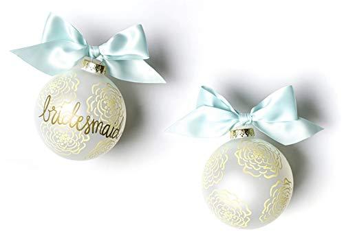 Coton Colors Floral Bridesmaid Glass Ornament
