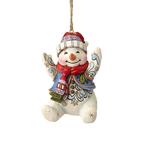 Enesco Jim Shore Heartwood Creek 6001513 Sitting Snowman Ornament