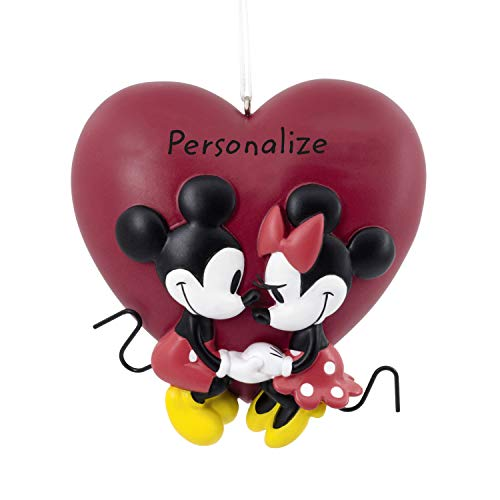 Hallmark Christmas Ornaments, Disney Mickey and Minnie Love Personalized Ornament