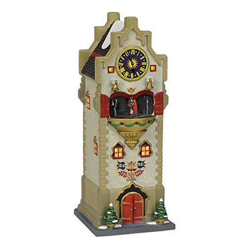 Department 56 Alpine Village Rhineland Glockenspiel Lit Animated Building, 10″, Multicolor