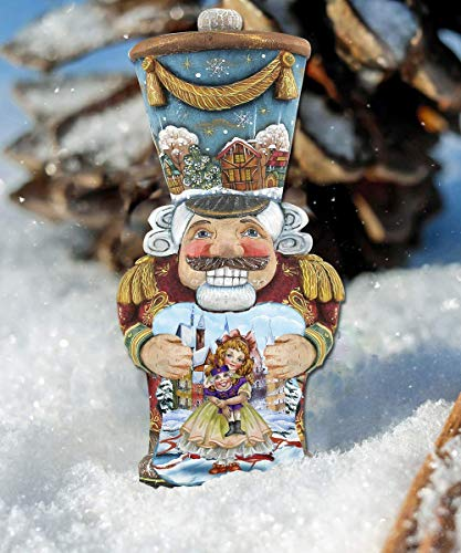 Nutcrackers Christmas Wooden Hanging/Freestanding Nutcracker Figure – XLarge Nutcracker Ornaments – Nutcracker Ballet Gifts #8116430M