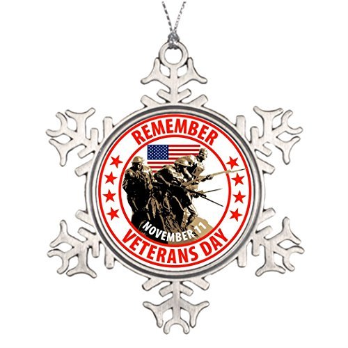 Metal Ornaments Tree Branch Decoration Remember Veterans Day Snowflake Ornaments To Make