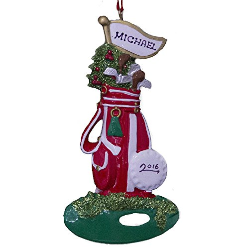Rudolph and Me Personalized Golfer Playing Golf Christmas Ornament Free Personalization
