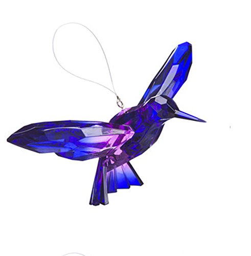 Ganz Crystal Expressions Ornament – Hanging Two-Toned Hummingbirds (Dark Blue/Purple)