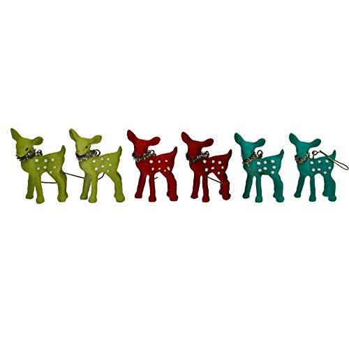 Largemouth Bethany Lowe Reindeer Fawn Holiday Ornament Decor Set of 6