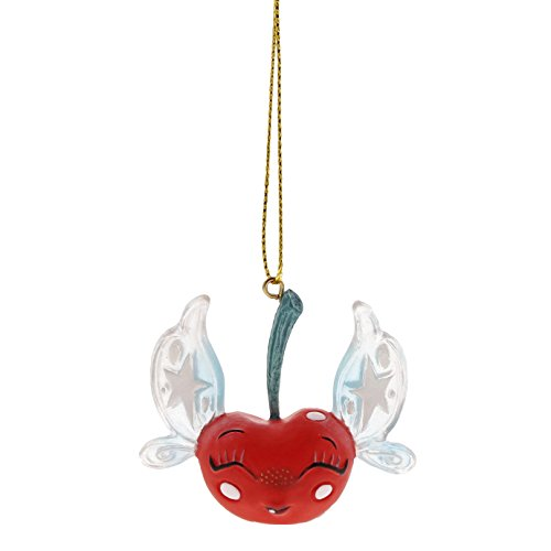 Enesco World of Miss Mindy Cherry Fairy Stone Resin, 1.5″ Hanging Ornament, Multicolor