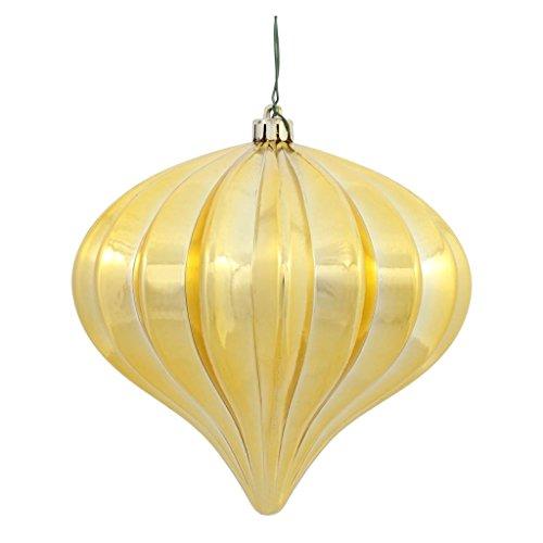 Vickerman 386569 – 5.7″ Gold Shiny Onion Christmas Tree Ornament (3 pack) (N151208DSV)