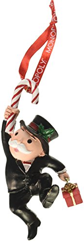Department 56 Hasbro Mr. Monopoly with Candy Hanging Ornament